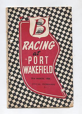 1956 Port Wakefield Trophy Meeting Programme Racing Touring Sports Car