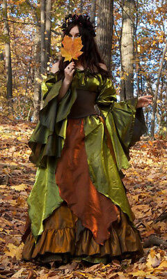 Q&I Renaissance Medieval Fall Faerie Woodland Autumn Fairy Costume PRE ORDER