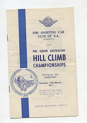 March 1952 Collingrove Hill Climb Programme Production Touring Racing Sports