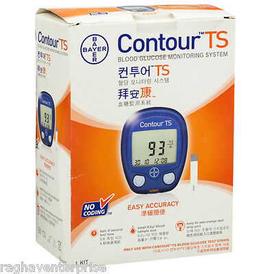 Bayer Contour TS Blood Glucose Monitoring System | Free Ship |
