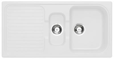 Astracast Composite 1.5 Bowl Opal White Kitchen Sink with Waste