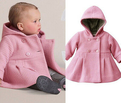 Baby Girls Jacket 2017 Winter Jacket For Girls Coat Kids Warm Hooded Age 6M -3Y