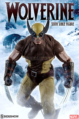 """Marvel X-Men Logan as The WOLVERINE Sixth Scale Action Figure 12"""" 30cm Sideshow!"""