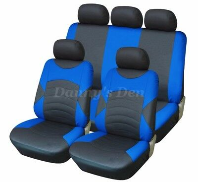 Black Blue Touring Car Seat Covers Cover Set For Nissan Qashqai 2007 - 2013