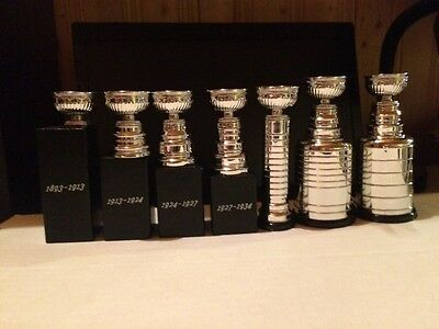 Stanley Cup Miniature Trophy NHL Molson 2017 Through The Ages Complete Set