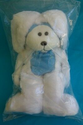 Cuddly Kids Hopscotch The Easter Bunny Bear Bigb188A Blue Soft Plush Beanie Gift