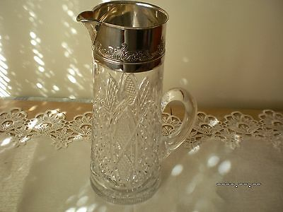 Antique Glass Jug Late 1800's Pitcher