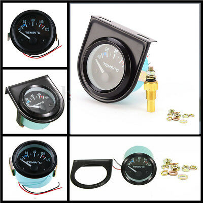 2'' 52mm Universal Car Pointer Water Temperature Temp Gauge Meter 40-120℃ LED AU