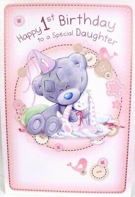 "Me To You Tiny Tatty Teddy Bear "" SPECIAL DAUGHTER 1st"" Birthday Card"