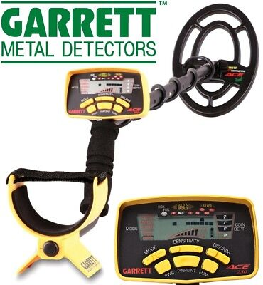 Garrett ACE 250 Metal Detector Light And Easy-To-Use  6.5 kHz Pinpoint 4 x AA