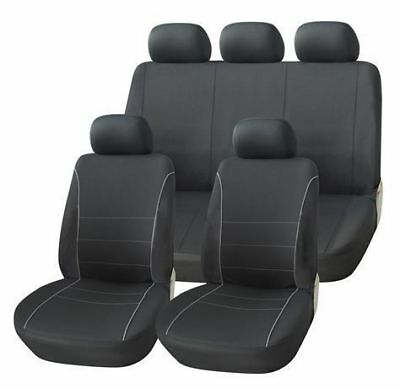 Black Grey Sport Car Seat Covers Cover Set For Nissan Qashqai 2007 - 2013