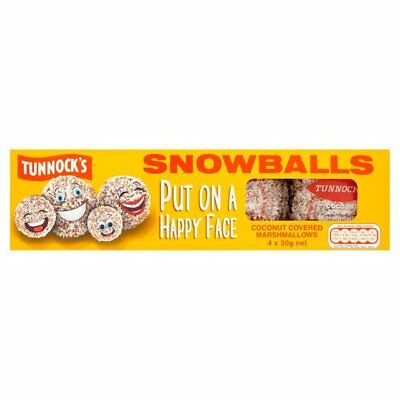 Tunnock's Snowballs Multipack 4 x 30g SEALED ENGLISH MADE X2 packs