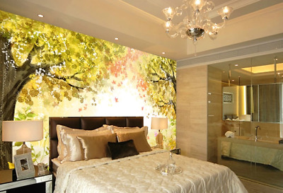 3D Red Green Trees  74 Wall Paper Murals Wall Print Wall Wallpaper Mural AU Kyra