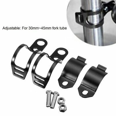Motorcycle Head Lamp Holder Headlight Mounting Brackets Fork For 30MM-45MM New^