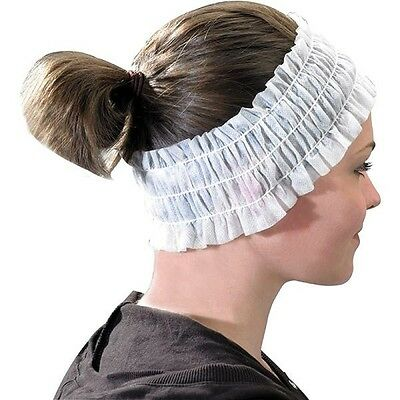 100 Pcs Disposable Non Woven Headbands x 100