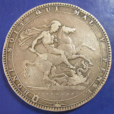 1819 LIX 5/- George III silver Crown: very collectable example