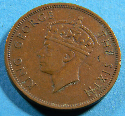 Seychelles 1948 5 cents  coin (0671)  KM# 7  Low Mintage 300,000