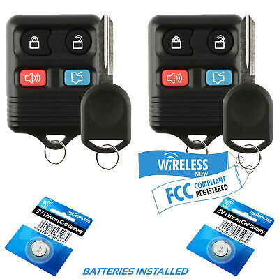 2 Car Fob Keyless Entry Remote For 2010 2011 2012 2013 2014 Ford Mustang + Key