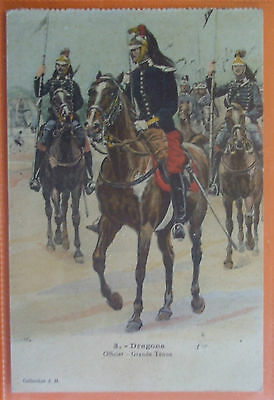MILITARY Postcard 1921 OFFICER,DRAGONS