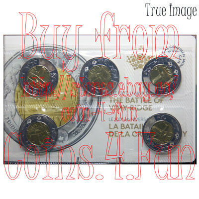2017 Canada - The Battle of Vimy Ridge - $2 Two Dollars Circulation 5-Coin Pack