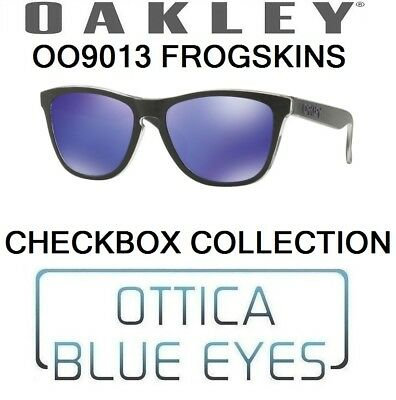 d0474c447ab OAKLEY FROGSKINS CHECKBOX COLLECTION Sunglasses OO 9013 9013B9 Black Violet  Irid