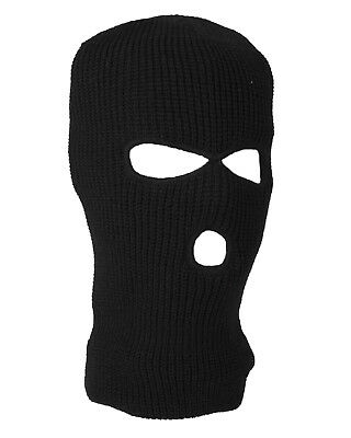 Winter Knitted Balaclava 3 Hole Face Mask SAS Style One Size