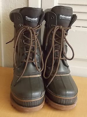 ITASCA THERMOLITE Icebreaker Brown Leather Waterproof Hiking Boots Youth Sz 3
