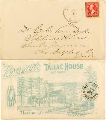 Lake Tahoe Full Cover Tallac House Advertising Cover Lot 3487