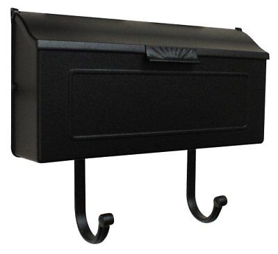 Wall Mount Mailbox Mail Box Black Postal Post Letter Cast Aluminum Heavy NEW