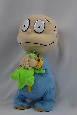 "Rugrats Tommy Pickle in Pjs with Reptar Plush 12"" Vintage Hard To Find"