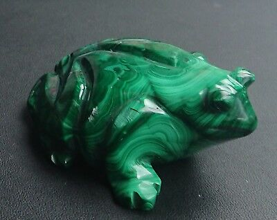 Malachite 230 grammes Grenouille - Natural frog Malachite