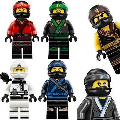 The Lego Ninjago Movie Minifigures Including Nya, Kai, Lloyd, Zane - Fits Lego