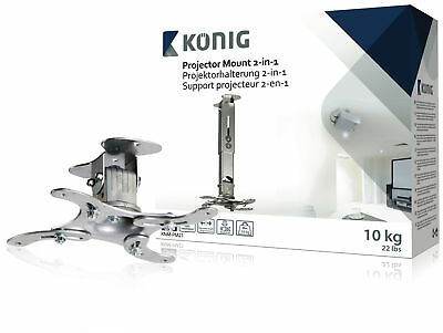Konig Projector Ceiling Mount Full Motion 10 kg Silver Projector