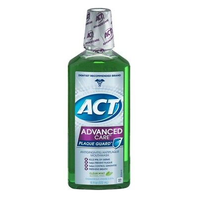 Act Advanced Care Plaque Guard Antigingivitis/Antiplaque Mouthwash, Clean Mint