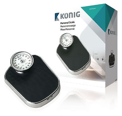 Konig Analogue Personal Scale 160 kg Black Personal