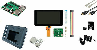 Raspberry Pi LCD Starter Kit + Wi-Fi + Raspbian Software Media