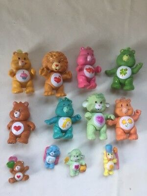 Vintage Care Bears Posable Mini Figures Great Lot