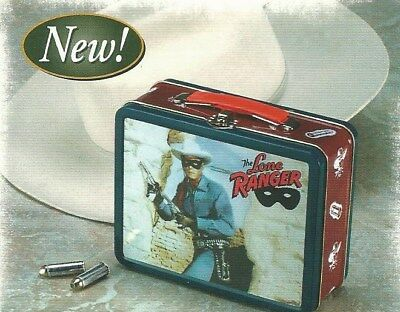 LB Lone Ranger Metal Lunch Boxes Carton of 12 *NEW individually plastic wrapped*