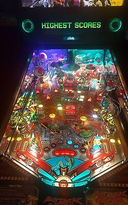 Attack From Mars Pinball Trough And Backboard Combo Light  Kit