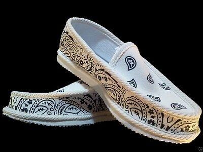 White Bandana House Shoes Slippers Trooper Brand New Size 8 9 10 11 12 13