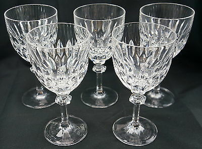 """Gorham Althea (5) Water Goblets, Glasses, 7""""...YES you get 5 glasses!"""