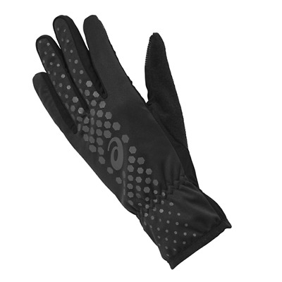 GUANTI RUNNING UNISEX ASICS WINTER PERFORMANCE GLOVES BLACK touch compatibile