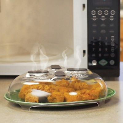 Microwave Food Splatter Guard Home Tool Anti-Sputtering Cover with Steam Vents D