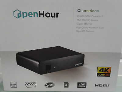 OpenHour Chameleon - 4K MediaPlayer, Android 4.4, Up to 5.1 QuadCore Cortex A17,