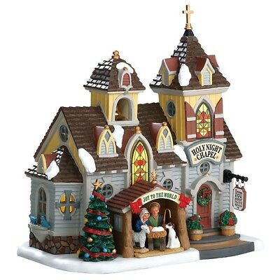 Lemax Christmas Decor Village Collection Chapel Nativity Seasonal Lighted Houses