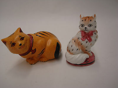 Franklin Mint Curio Cats Retired Chalkware & Staffordshire Figurines