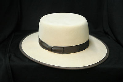Confederate Re-enactment Beehive Brimmed Hat - S Rush 7 1/4