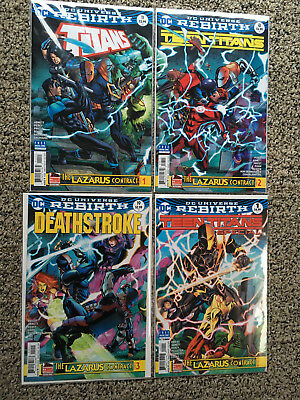 DC Rebirth Lazarus Contract Complete Titans Teen T Deathstroke + Special VF/NM