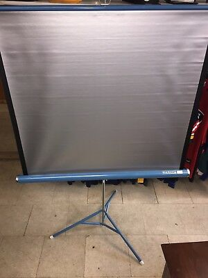 "Vintage Da-Lite Silver Flyer  40"" x 40"" Projection Screen"