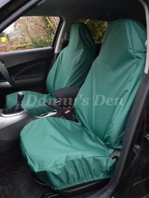 Green Front Driver Passenger Car Seat Covers Set For Nissan Qashqai 2007 - 2013